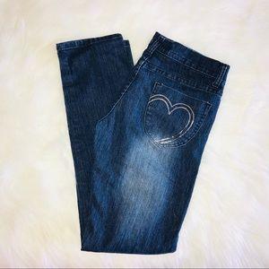 KK Sequin Pocket Skinny Jeans